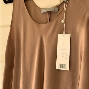 NEW WITH TAGS! Vince Gold Satin Dress, Size Small